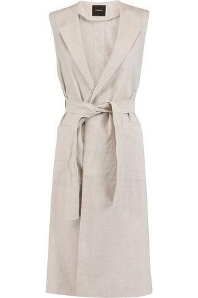 THEORY Skea linen-blend vest