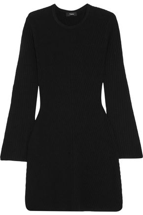 THEORY Ribbed stretch-knit mini dress