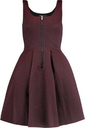 MAJE Mesh and neoprene dress