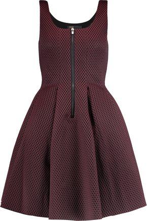 MAJE Mesh and neoprene dress