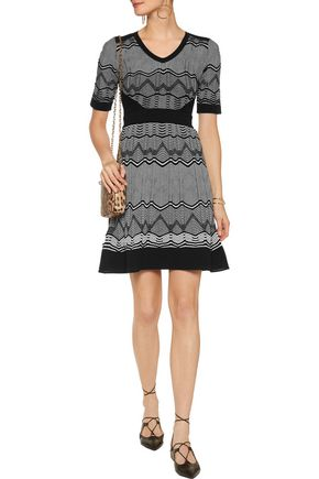 M MISSONI Ribbed crochet-knit cotton-blend dress