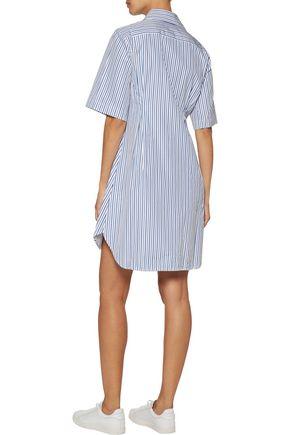 LA LIGNE Bisou striped cotton-poplin shirt dress