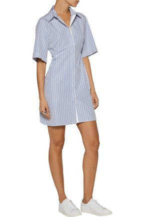 LA LIGNE Bisou striped cotton-poplin shirt dress