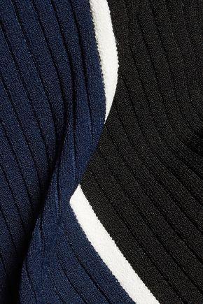 LA LIGNE Streamline color-block rib-knit dress
