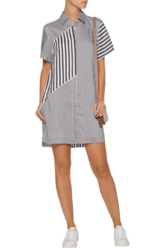 Lumiere striped twill shirt dress | LA LIGNE | Sale up to 70% off | THE  OUTNET