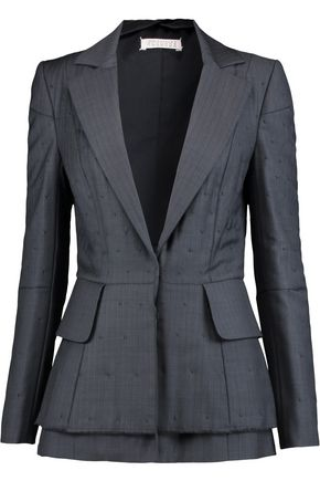 MAISON MARGIELA Embroidered pinstriped wool blazer