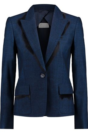 MAISON MARGIELA Two-tone wool-blend jacquard blazer
