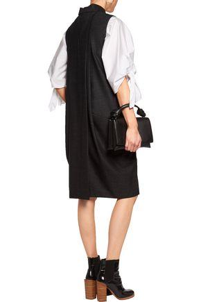 MAISON MARGIELA Pleated wool-blend crepe dress