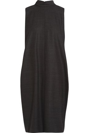 MAISON MARGIELA Pleated wool-blend crepe dress