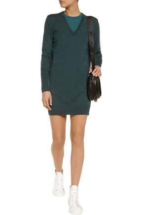 MAISON MARGIELA Layered wool mini dress