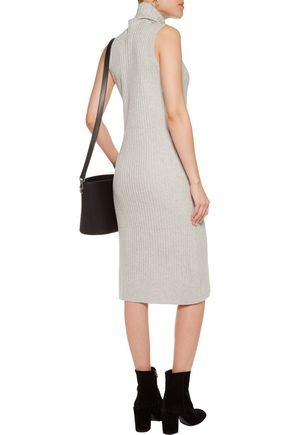 MAISON MARGIELA Ribbed-knit turtleneck midi dress