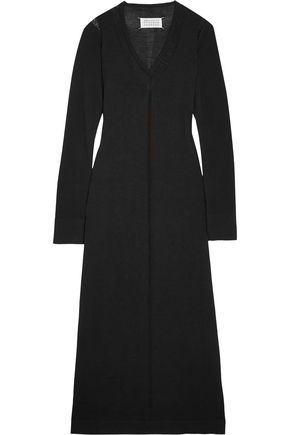 MAISON MARGIELA Distressed wool midi dress
