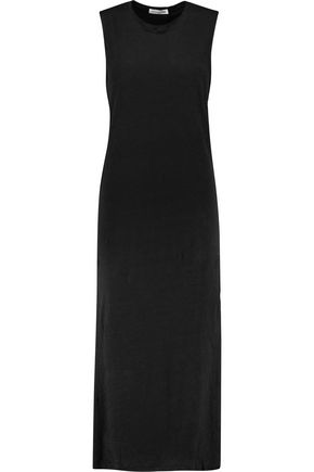 RAG & BONE Layered slub linen midi dress