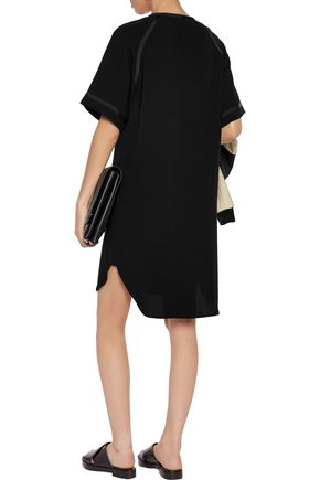 RAG & BONE Varsity grosgrain-trimmed crepe shirt dress