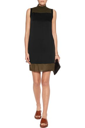 RAG & BONE Vivienne satin and merino wool-blend mini dress