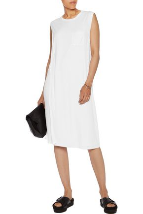 T by ALEXANDER WANG Wrap-effect jersey dress