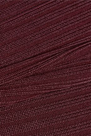 T by ALEXANDER WANG Cutout ribbed-knit mini dress