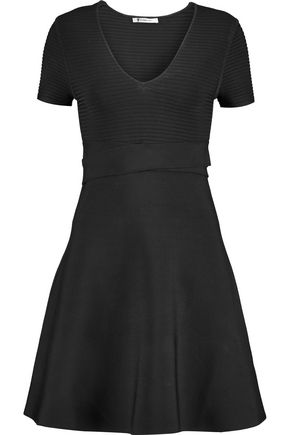 T by ALEXANDER WANG Ribbed-knit mini dress