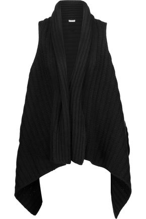 JOIE Ena B ribbed wool and yak-blend vest