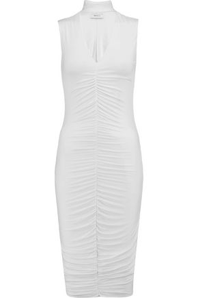 BAILEY 44 Cutout ruched stretch-jersey dress
