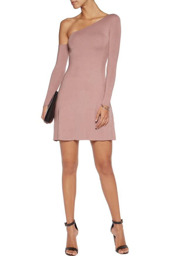 One-shoulder jersey mini dress | BAILEY 44 | Sale up to 70% off | THE OUTNET