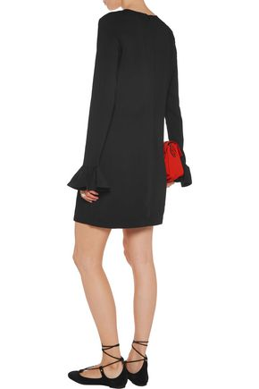 MARKUS LUPFER Embroidered crepe mini dress