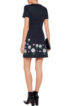 MARKUS LUPFER Ditsy Daisy floral-embroidered jersey mini dress