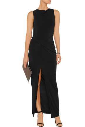 HELMUT LANG Draped jersey maxi dress