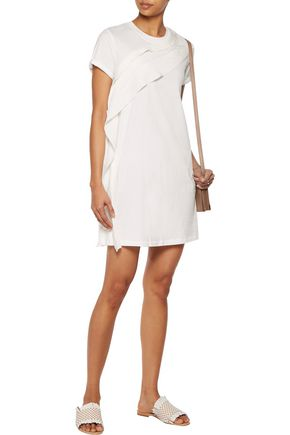 3.1 PHILLIP LIM Silk-trimmed cotton-jersey mini dress