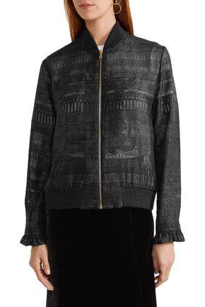 MARKUS LUPFER Sonja metallic fil coupé bomber jacket