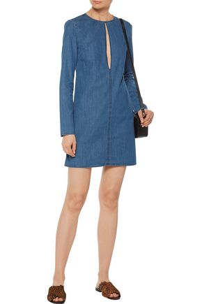 3x1 WD cutout denim mini dress