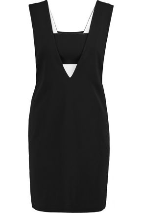 T by ALEXANDER WANG Cutout crepe mini dress