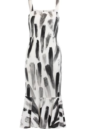 DOLCE & GABBANA Printed crepe midi dress