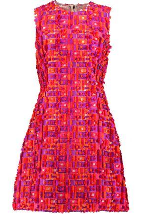 DOLCE & GABBANA Fil coupé satin-twill mini dress
