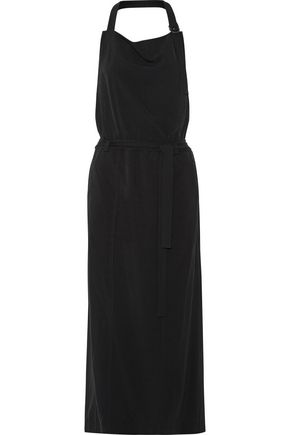 DKNY Twill halterneck maxi dress