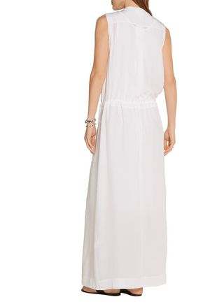 DKNY Silk-charmeuse maxi dress