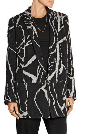 MISSONI Oversized intarsia wool-blend blazer