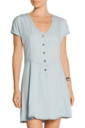 CURRENT/ELLIOTT The Valley chambray mini dress
