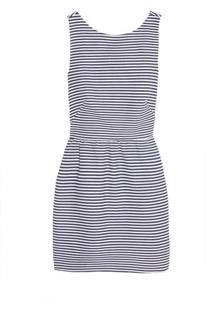 REDValentino Striped cotton-blend piqué mini dress