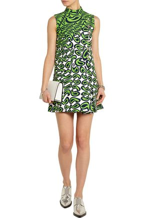 MIU MIU Printed cady mini dress