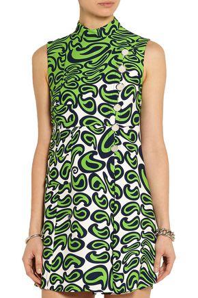 MIU MIU Printed cady mini dress