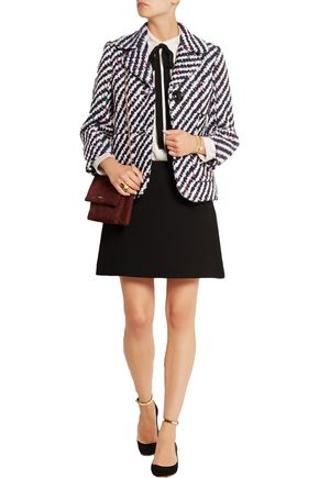 MIU MIU Wool and cotton-blend bouclé jacket