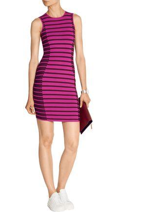OPENING CEREMONY Striped stretch-knit mini dress