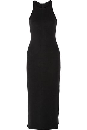JAMES PERSE Stretch-fleece maxi dress