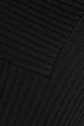 ANTHONY VACCARELLO Asymmetric ribbed stretch-knit mini dress