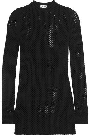 ACNE STUDIOS Alca open-knit mini dress