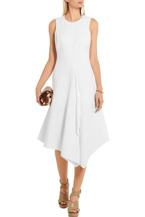 STELLA McCARTNEY Adelaide asymmetric cotton-piqué dress
