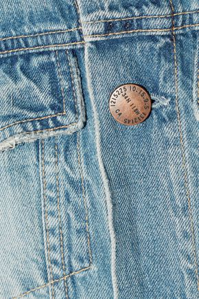 CURRENT/ELLIOTT The Rolled Sleeve Trucker denim jacket