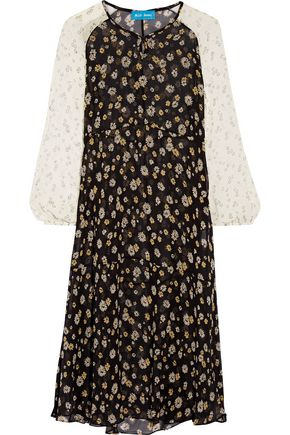 M.I.H JEANS Printed silk-georgette midi dress
