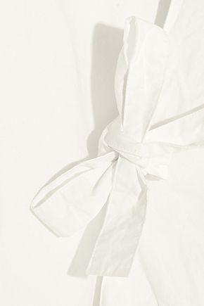 M.I.H JEANS Patou crinkled cotton-poplin mini dress